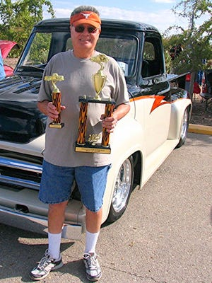 """In 2015, Raul Silver walked away with the """"Best of Show honors for his 1953 Ford F-100 classic pick up truck at Pancho's Car Show held at Pancho Villa State Park in Columbus, NM. Silva competed out of El Paso, Texas."""