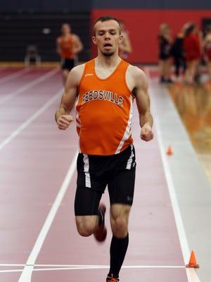 Reedsville's Trevor Frank wins the 800 meter run Tuesday at Sheboygan South.