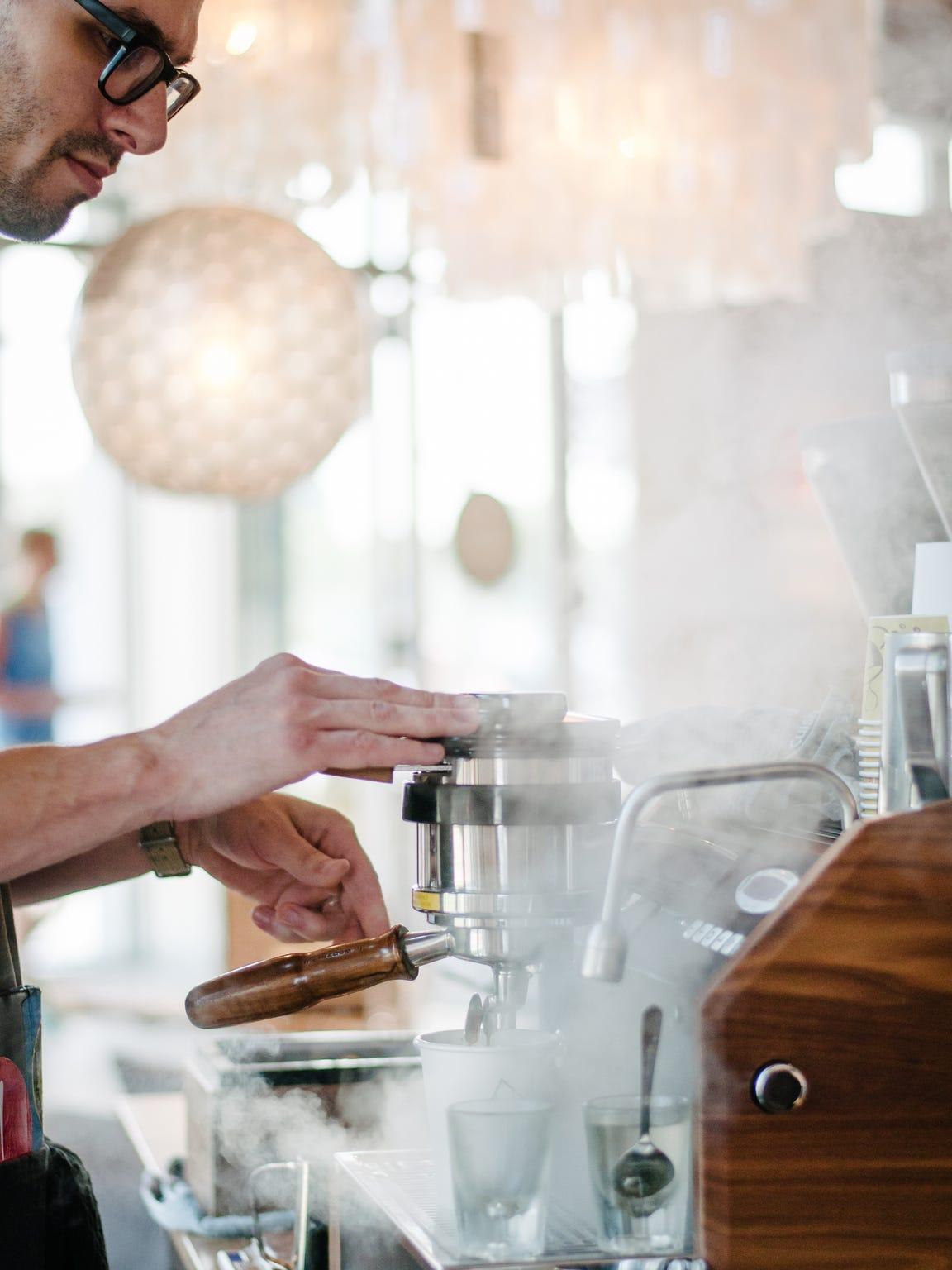 Reception coffee bar: Ugly Duck Coffee