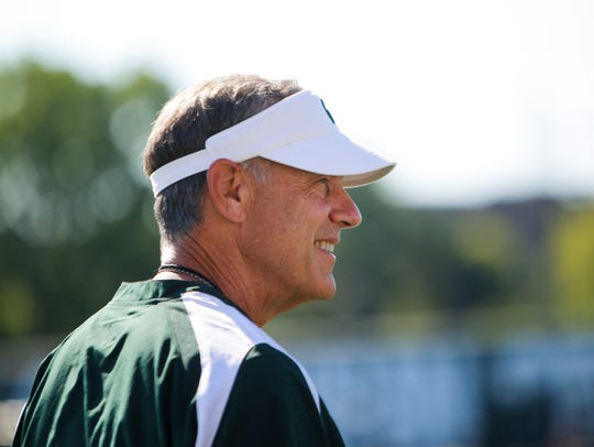 MSU Football Coach Mark Dantonio pictured Monday, July