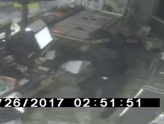 Video surveillance footage of the Stewart's Shops burglary