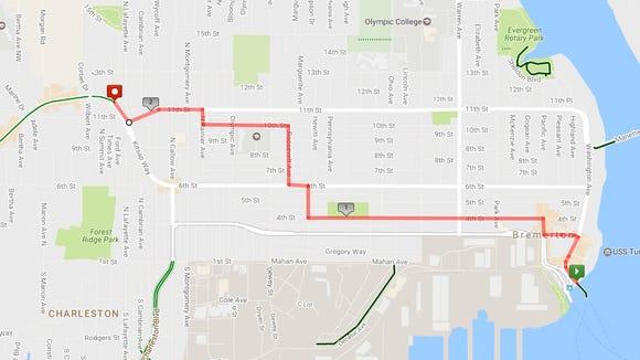 Bremerton bicycle map