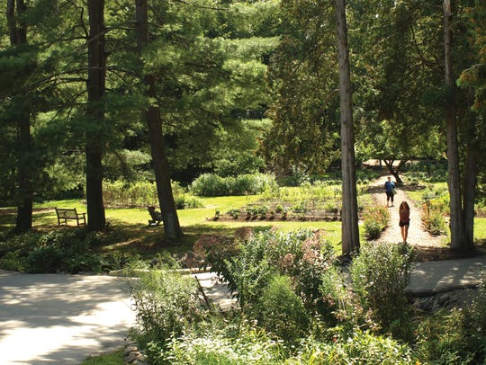 Omega's guests have access to woodland trails and gardens