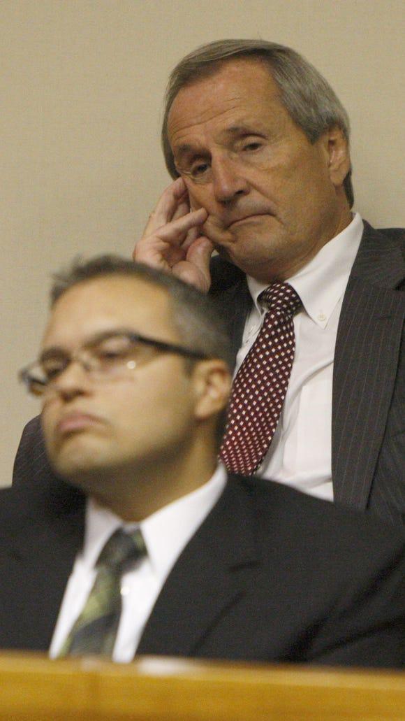 LDC defendants Robert Wiesner, top, and Nelson Rivera in court.
