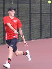 Franklin No. 2 singles player Adam Alger makes a nice
