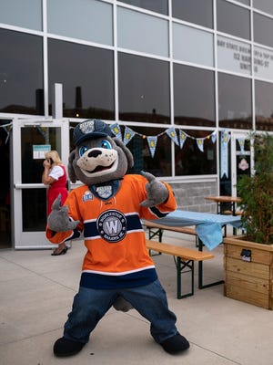 Worcester Railers mascot Traxx will be in attendance on Saturday as the Worcester Railers host a celebration of Worcester professional sports.