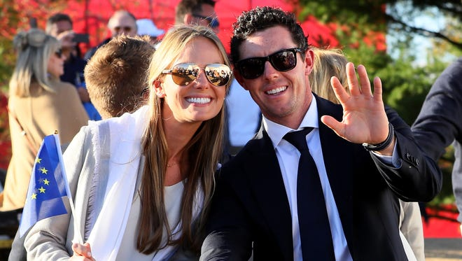 Irondequoit native Erica Stoll and Rory McIlroy, pictured here at the Ryder Cup last fall at Hazeltine National Golf Club in Chaska, Minnesota, reportedly will be married in Ireland on Saturday.