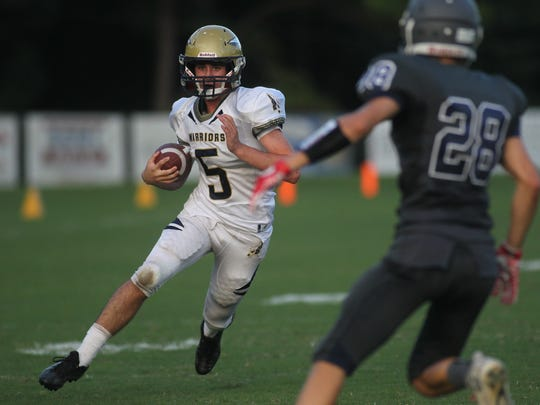 Aucilla Christian's Blake Wirick ran for 212 yards and five touchdowns in a win over Munroe.