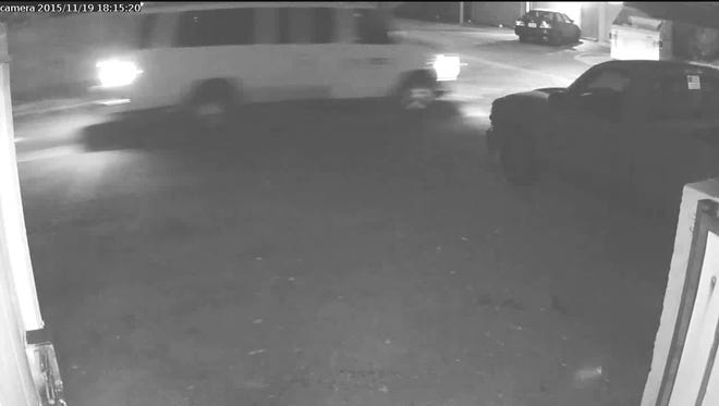 Hit-and-run suspect vehicle involved in an incident on Glendale on Nov. 19.