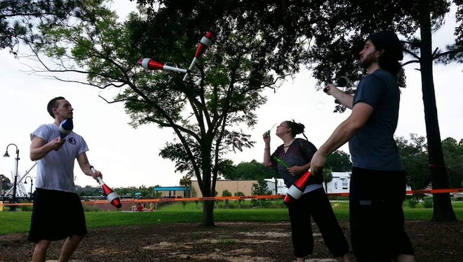 The Tallahassee Prop Box practices juggling, fire dancing, slack lining, among many other interesting feats and is open to people of all skill levels