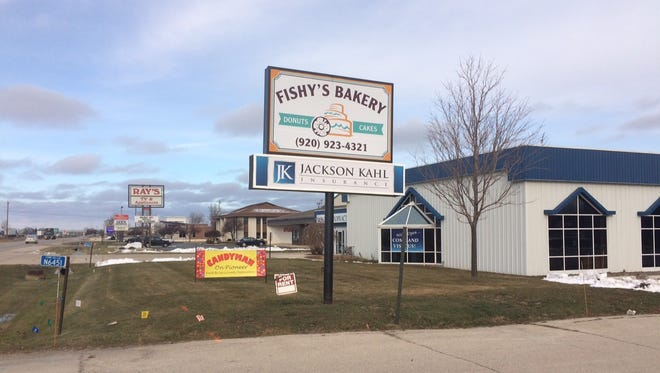 Bill Laufer, and his business partner Tom Meurer, recently purchased Fishy's Bakery, expanding the donuf-famous company's retail operations and opening a candy store at the storefront, N6451 S. Pioneer Rd.