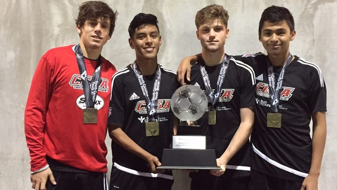 Four area players contributed to a state-championship win for the Carolina Elite Soccer Academy '99 boys team over the weekend in South Carolina.