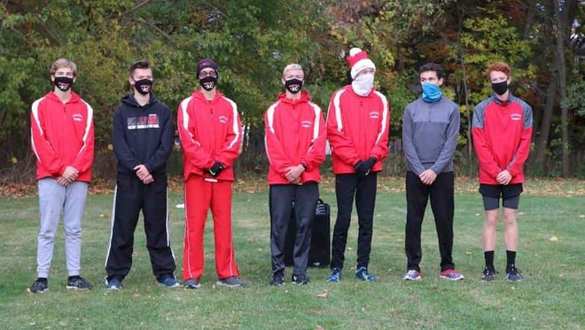 The Saranac boys cross country team won the conference championship.