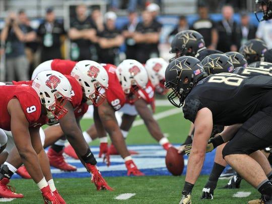 Vanderbilt's offensive line vs. N.C. State