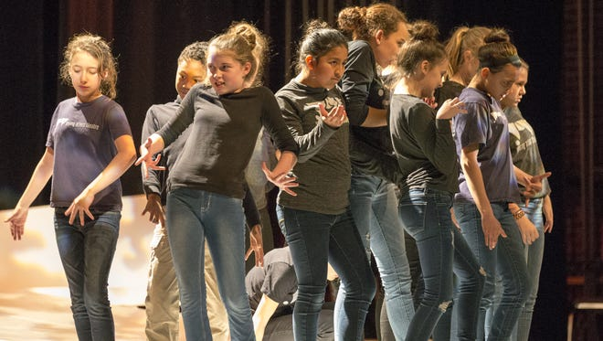 Young Actors Theatre performers rehearse at The Athenaeum on Jan. 14.