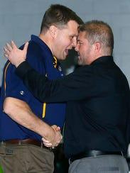 Delaware Valley head coach Andy Fitz and Raritan head