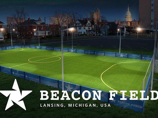 The Beacon Soccer Field project exceeded its $60,000 crowdfunding campaign goal last month with two days to spare. Plans call for construction of a 60-by-120 foot synthetic turf field in the southeast corner of Ferris Park, near the intersection of Walnut and Shiawassee streets.