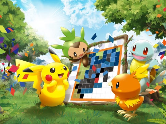 Pokemon Picross for the Nintendo 3DS.