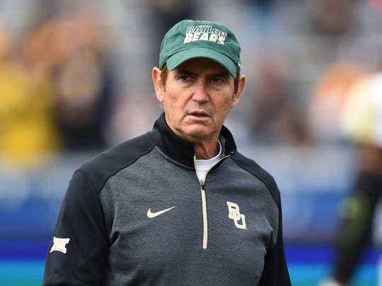 Art Briles coached Baylor through the 2015 season.