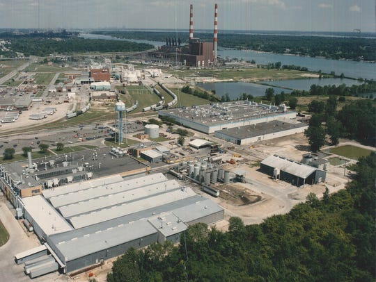 This aerial photo shows Chrysler's Trenton Chemical