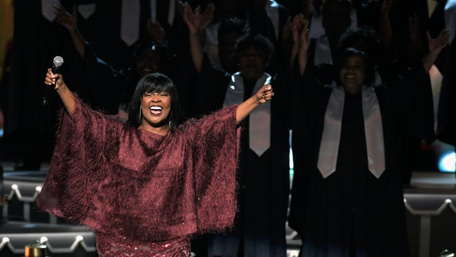 CeCe Winans performs during the 8th annual CMA Country Christmas show on Nov. 14, 2017, at the Grand Ole Opry.