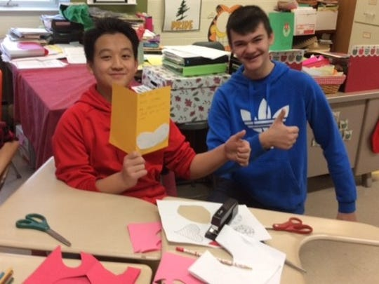 A Valentine's project for veterans gave D.C. Everest Junior High students an opportunity to share their poetry skills.