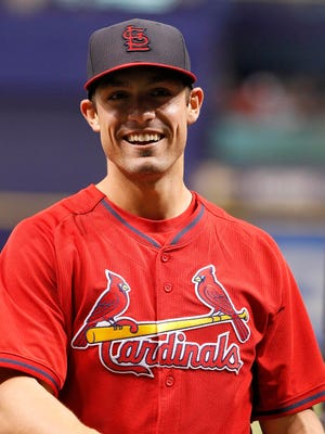 Randal Grichuk, 23, is a right-handed power bat on a team with a left-leaning starting lineup.