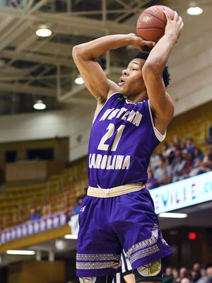 Marcus Thomas, shown in an earlier game, scored 10 points in Western Carolina's victory Thursday against Southern Wesleyan.