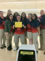 The Blackman girls bowling team won the Region 4 title,