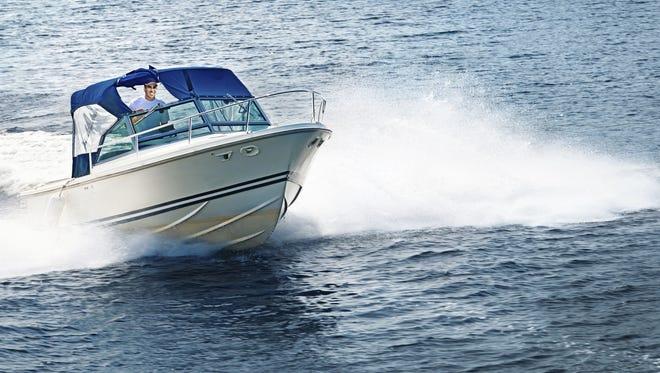 Man boating.