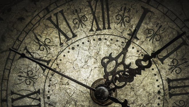 """The slow stroke of the clock of time"" — Paul Laurence Dunbar"