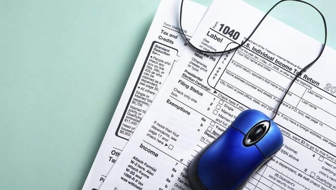 Online tax form concept