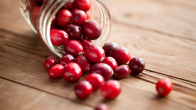 Red cranberries.