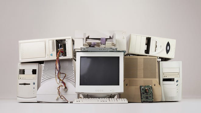 old computer and electronic waste