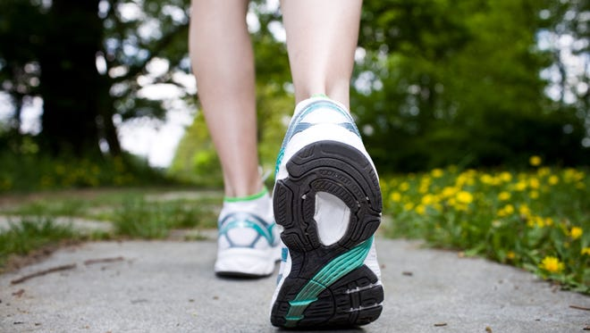 Walking works different muscles than jogging.
