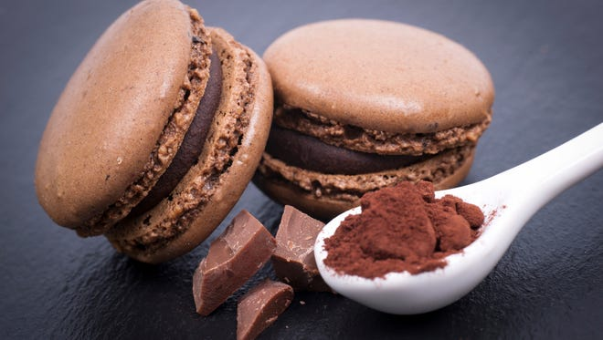 Macaroons with chocolate are a delicious way to go off the sugar wagon.