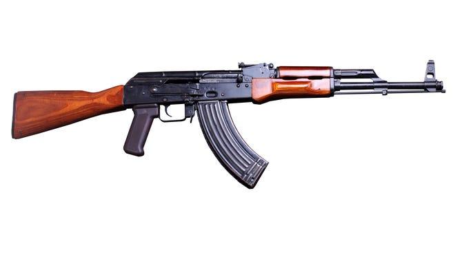 An AK-47 rifle.