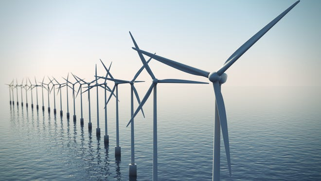 A wind farm off the coast of Ocean City is in the planning stages, but developers hope it will someday look something like these.