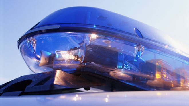 Close-up of emergency lights on police car