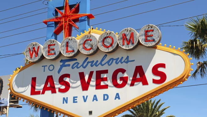 The welcom to Las Vegas sign.