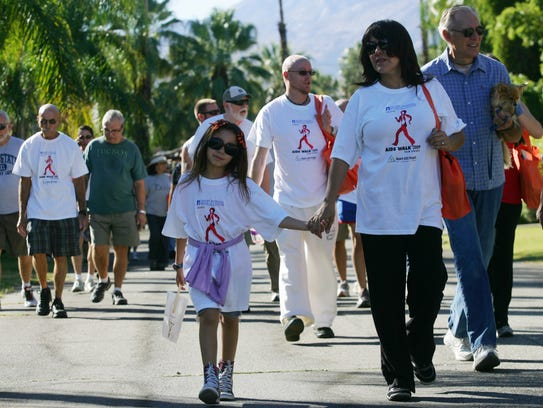 Participants in Desert AIDS Walk.