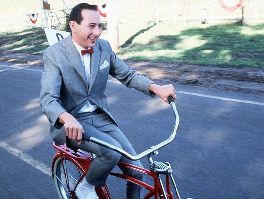 "Paul Reubens starred as the man-child in 1985's ""Pee-wee's Big Adventure."""