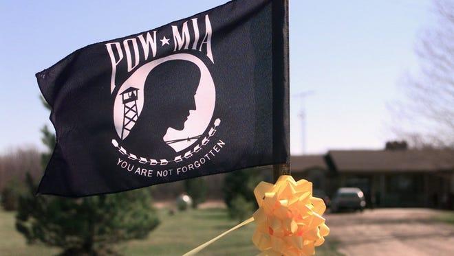 A POW-MIA memorial flag.