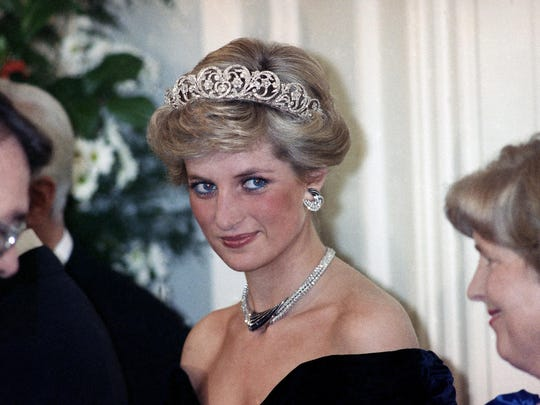 Diana looked every bit a princess at a reception given