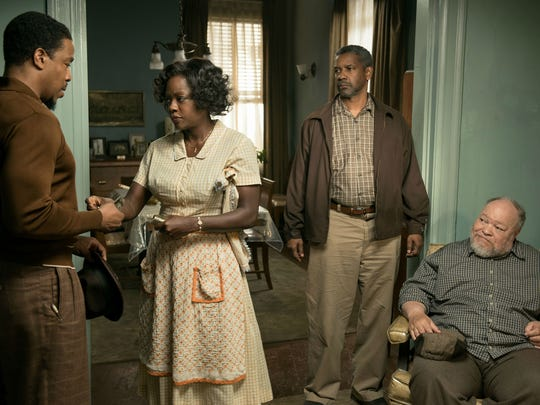 Russell Hornsby (left, as Lyons), Viola Davis (as Rose
