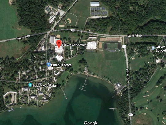 Map of the Culver Military Academy campus.