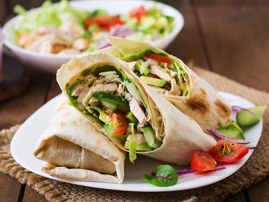 Wraps are an easy way to make dinner for on-the-go kids.