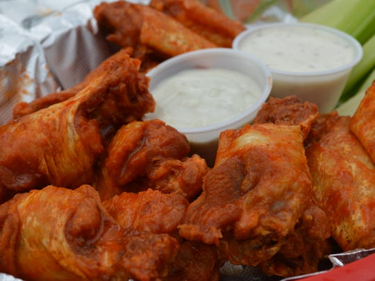 Medium wings are the most popular menu item at Bougey's.