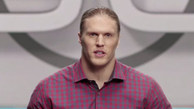 Clay Matthews gives SportsCenter anchor a try.