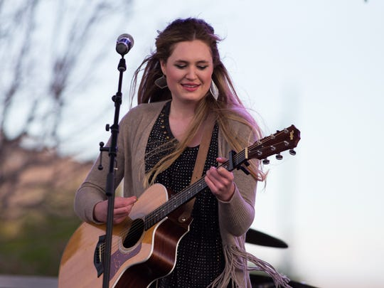 Alyssa Newton at the Las Cruces Country Music Festival on April 29, 2017.
